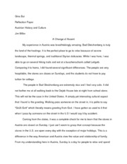 ACH Reflection Paper