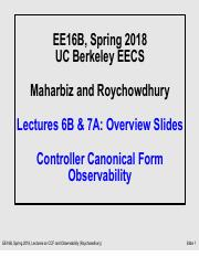 Lecture7A pdf - EE16B Spring 2018 UC Berkeley EECS Maharbiz