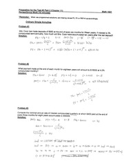 MATH1021, Review Questions for Test#2, PartII