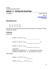 Lecture 2 Example 1.1 -- Working with Growth Rates