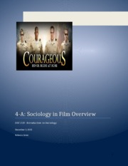 Introduction to Sociology Unit 4 Assignment A sociology in film overview Jones, Rebecca.docx