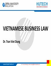 TVD - Vietnam business law - topic 4