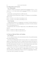 MAC2241 Life Science Calc 1, Chapter 5 Part 2 Notes Monotonicity and Concavity