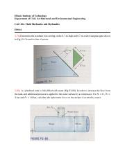 CAE- 302 (Fluid Mechanics) HW#4
