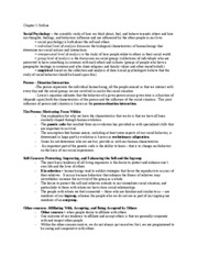 Chapter 1 Outline - PSYC221