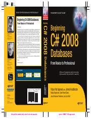 31. Beginning C_ 2008 Database From Novice To Professional