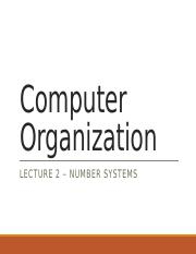 Lecture_2 Number Systems_student version