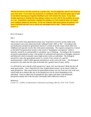lifespan perspectives paper Life span perspective lifespan perspective is gaining knowledge through the changes that occur during human life span perspective paper psy 375 (3 pages.