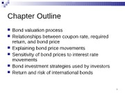 Chapter 8 Bond Valuation