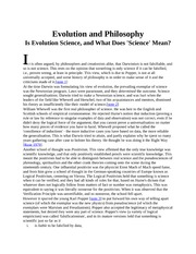 Evolution and Philosoph1