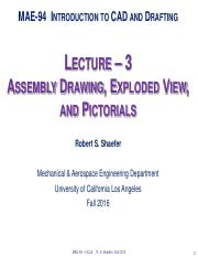 Lecture-3_AssemDrwg, ExplViews,Pictorials 16F(B)