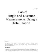 LAB3ANGLEDISTANCEMEASUREMENT