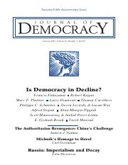 The myth of democracy in decline