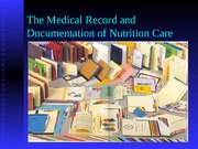 Documentation of Nutrition Care
