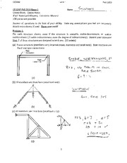 Structural Engineering Exam 1A Solution