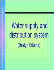 4 Water Supply And Distribution System Design Criteria Ppt Nvironmental Engineering I Water Supply And Distribution System Design Criteria Course Hero