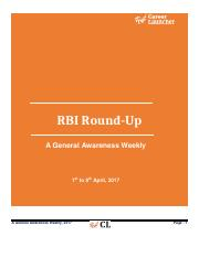 RBI RoundUp (1st to 8th_ April)
