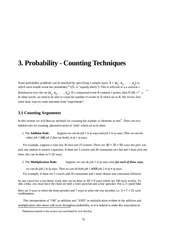 Introduction to Probability lecture 4