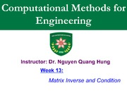 Week13-Matrix Inverse and Condition