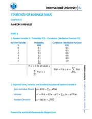 CHAPTER 03 - RANDOM VARIABLES