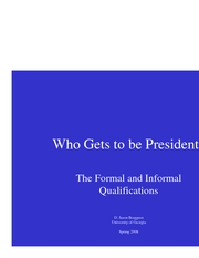 Who Gets to be President Part 2