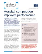 Hospital competition improves performance