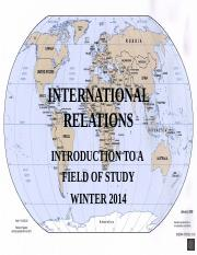 01 INTRODUCTION TO INTERNATIONAL RELATIONS