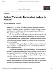 140210_Kellogg Workers in 4th Month of Lockout_NYT