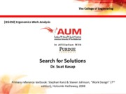 Lecture 6 - Search for Solutions