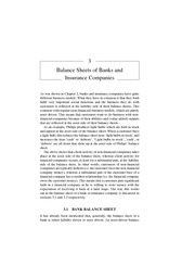 Chapter 3 Balance Sheets of Banks and Insurance Companies