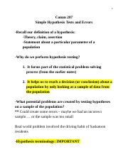 3 - Simple hypothesis tests and errors.docx