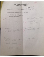 Applied Differential Equation Quiz 11