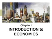 Chapter I Introduction to Economics
