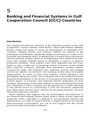 Banking and Financial Systems in Gulf Cooperation Council GCC Countries