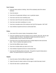 Study Guide for Written Quiz 1