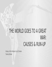 Causes and Run-up 2 WW1