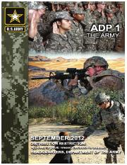 ADP 1 The Army (includes Change 1)