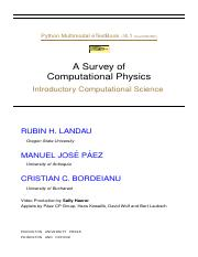 PHYSICS7 pdf - Computational Physics With Python Dr Eric