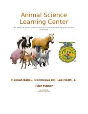 Animal Science Learning Center