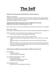Notes - Lecture 4 - The Self.docx