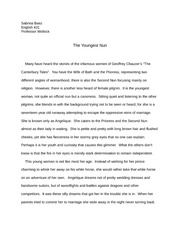 eng 431 Final Chaucer research paper