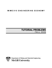MIME 310 - Tutorial Problems
