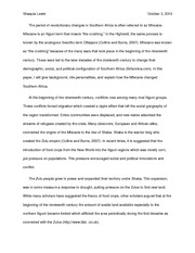 Essay on Mfecane