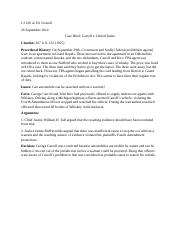 Criminal Procedure (Carroll v United States).docx