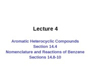 CH 2536 Lecture 04 Aromaticity 14.4, 14.8-10