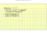 Graphing Systems of Inequalties Notes