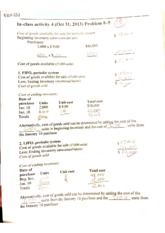 Accounting-In-class assignment #4 inventories