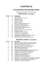 Chapter 17 Accounting for Income Taxes Test Bank.doc