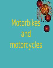 motorbikes and motorcycle