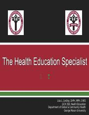 Chapter 6 The Health Education Specialist.ppt